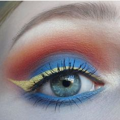 Colorful sunset makeup