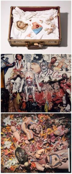 """""""He knew he'd made something cool, and he'd be happy about it. He would think he was a blowhard if he explained stuff. Maybe he just liked to keep people guessing. -Krist Novoselic; collages by Kurt Cobain  http://bromgershtrausendyatlovsky.blogspot.com/2011/01/kurt-cobains-art.html"""