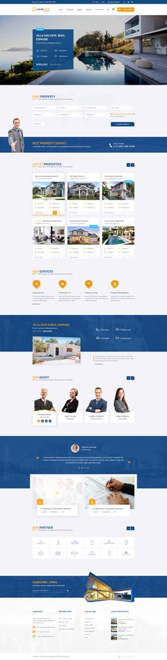 Landmark - Real Estate PSD Template #psd #membership #advanced search • Download ➝ https://themeforest.net/item/landmark-real-estate-psd-template/18923354?ref=pxcr