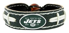 New York Jets Team Color Football Bracelet