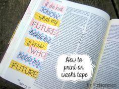 How to Print on Washi Tape Bible Art Journaling