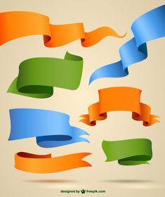 Ribbons-vector-graphics
