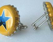 beer cap cuff links