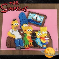 "211 Likes, 14 Comments - Montreal, Canada (@pixel_planet_) on Instagram: ""The Simpsons.#perler #beads #pixel #pixelart #thesimpsons #homersimpson #margesimpson #lisasimpson…"""