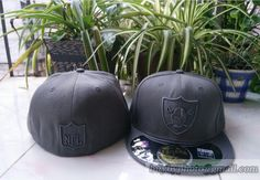 Oakland #Raiders Gray Embroidery #59fifty Fitted hats