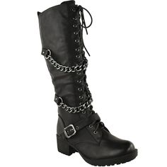 Fashion Thirsty Womens Knee High Mid Calf Lace Up Biker Punk Military Combat Boots Shoes Size 8