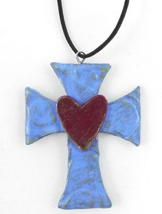 Polymer Clay Cross Pendant. Instructions in link