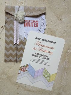 Love this invitation and mixing traditional crafting with digital crafting.