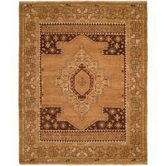 Loon Peak Elisa Hand-Knotted Wool Tan Area Rug Rug Size: Rectangle x Blue Ivory, Power Loom, Blue Area Rugs, Rug Size, Oriental, Weaving, Rug Ideas, Texture, Wool