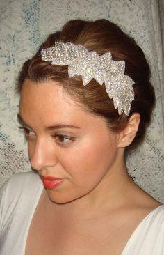 CUSTOM Listing for Laura- Ivy Bridal, Rhinestone Headband, Wedding Headband,  Bridal Headpiece, Headband, Bridal Accessories, Hair, Silver via Etsy