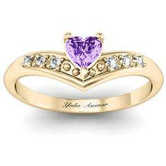 V-Accented Heart  Ring #jewlr