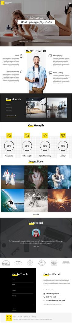 Photography is a beautiful and responsive 5in1 #WordPress theme designed for #photographers, studios and art #gallery websites download now➩ https://themeforest.net/item/photography-responsive-photography-theme/18448179?ref=Datasata