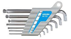 HOZAN / SHORT LENGTH SHORT NECK HEX WRENCH SET (7pcs.) / W-113 / MADE IN JAPAN #HOZAN