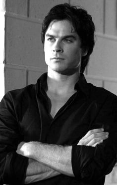 """[Ian somerhalder] """"Hello. I'm Beau. I'm a black wolf. I'm twenty and single. I'm a rogue. And I am good in combat, so watch out,loves."""