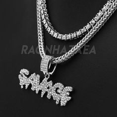 Exo Jewel Dream Chasers Piece Pendant Necklace with 24 CZ Diamond Tennis Chain