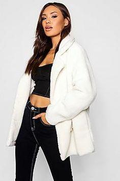 00f07a768e Double Breasted Teddy Faux Fur Coat