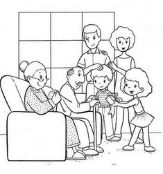 Family Coloring Page Get This Easy Pages For Preschoolers Printable Mermai. - Family Coloring Page Get This Easy Pages For Preschoolers Printable Mermaid Kids Angels Easte - Family Coloring Pages, Cat Coloring Page, Bible Coloring Pages, Coloring Sheets For Kids, Coloring Pages To Print, Coloring Books, Family Picture Drawing, Family Picture Colors, Family Worksheet