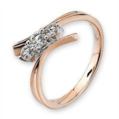 Diamantring Temptation, Rot-/Weißgold 750, 3 Diamanten