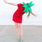 DIY Strawberry Costume - und viele weitere einfach/schnelle Kostüme