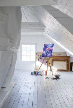 attic studio.