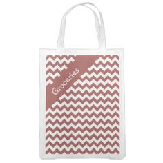 Antique Red Chevron Market Tote ...............This design features a Antique Red Chevron pattern. The TEXT on both sides can be customized with your own. Check out my store for more colors.