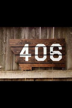 406 montana tattoos | Upcycled pallet board. #upcycled #montana #406 #pallets ... | House
