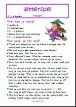 Letterspel Heksen - Spelregels Hocus Pocus, Art Pages, Primary School, Fun Learning, Teacher, Study, Carnival, Fantasy, Upper Elementary