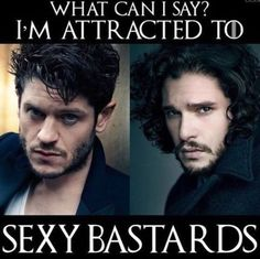 Ramsay Snow Bolton and Jon Snow, the sexy bastards