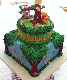 Winnie the Pooh Birthday by Graceful Cake Creations, via Flickr