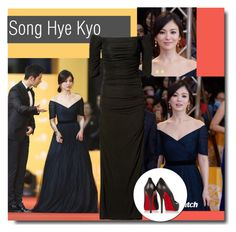 """""""Song Hye Kyo Red carpet Style"""" by kts-desilva ❤ liked on Polyvore featuring Badgley Mischka and Christian Louboutin"""