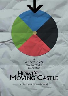 Howl's Moving Castle (2004) ~ Minimal Movie Poster by Craig McKeown ~ Studio Ghibli Series #amusementphile