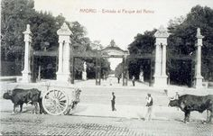 Entrada al Parque del Retiro Entre 1916 y 1923 Autor:    CASTAÑEIRA, ÁLVAREZ Y LEVENFELD