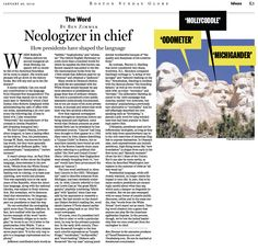 All the president's words. Whatever happened to our neologizers-in-chief?  (Jan. 20, 2013) http://b.globe.com/preswords