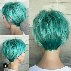 Turquoise hair