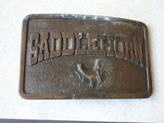 Fibbia / Buckle SADDLEHORN vintage 1970 Commemorativa
