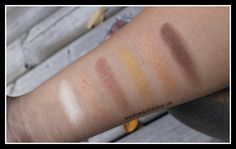 Swatches- Essence All About Sunrise Eyeshadow Palette