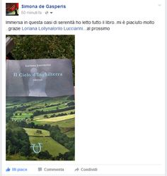 Il Cielo va in montagna! :-D Ecco uno scatto dalla lettrice Simona che proprio oggi ha inviato la sua foto dopo la lettura del romanzo. Grazie…