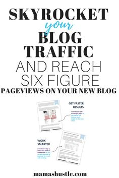 Get major traffic to your new blog with this guide! Over 100 pages of material plus video content AND a free traffic guide Bonus! $29 off instantly at checkout, this week only! This guide helped me go viral multiple times on a 3 week old blog. You'll love it! #ad | mamashustle.com