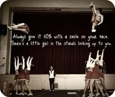So true. There are little girls who come to the football games just to watch us cheer. Cheerleading Pics, Cheer Stunts, Cheer Dance, Cheer Flexibility, Cheers Photo, Cheer Workouts, Cheer Quotes, Cheer Outfits, Competition Time