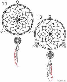 How to Draw a Dreamcatcher Step 6