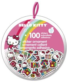 Ornament filled with mini stickers!  Hang it on the tree to delight your favorite little elves!: Hello Kitty XMAS Sticker Ornament: Arts, Crafts & Sewing
