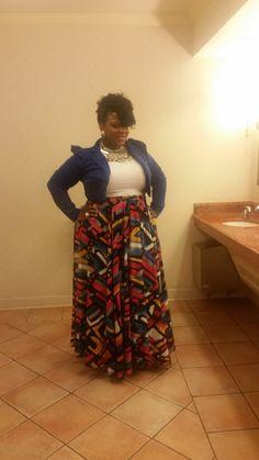 Stunning Big Beautiful Black Girl Crop blazer accent z Skirt Burlington Coat Factory Necklace