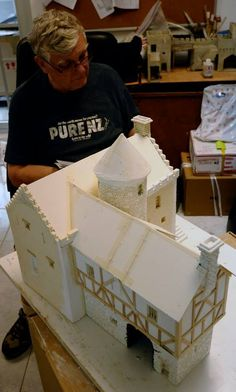 created by Gordon Neilson using card, foam board, a bit of plaster and plenty of white glue (Elmers).