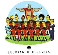 Simpsonized Belgian Red Devils