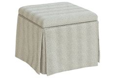 Anne Skirted Storage Ottoman, Gray--need a pair of these!