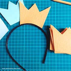Simple way to make a crown headband.