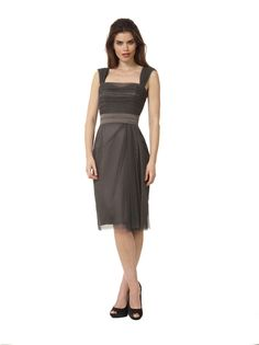 Liancarlo Style 3115 Stretch tulle cocktail dress with shirred bodice #rehearsaldinner #motherofthebride #evening #cocktail
