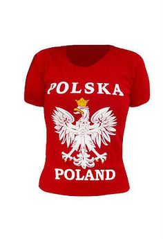 Show your Polish Pride with this high quality t-shirt embossed with Polish White Eagle, POLSKA and POLAND lettering . The imprinted technique ensures high quality and durability that gives unique visu