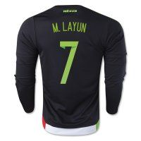 Mexico National Team 2015 M. LAYUN #7 LS Home Soccer Jersey [C327]