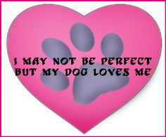 I may not be perfect but my dog loves me. - shared via pinletmagic.com